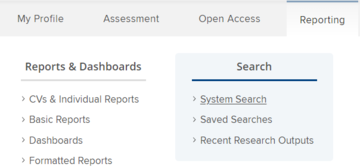 Screenshot showing where to find the system search